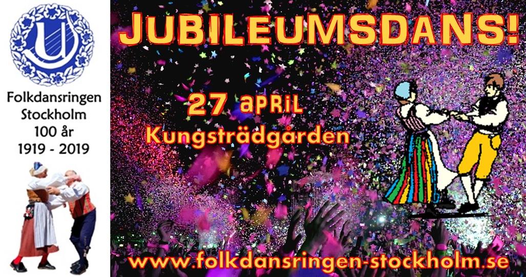 27/4: Jubileumsdans! Folkdansringen Stockholm firar 100 år